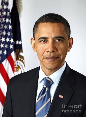 Lapel Photograph - Barack Obama (1961- ) by Granger