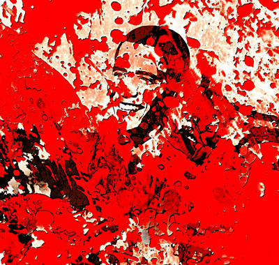 George Bush Mixed Media - Barack Obama 44b by Brian Reaves