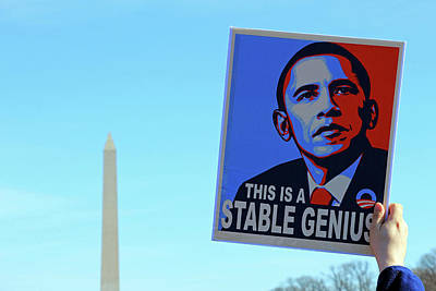 Photograph - Barack Obama -- A Stable Genius by Cora Wandel
