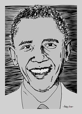 Barack Hussein Obama Painting - Barack Obama by Artist Singh