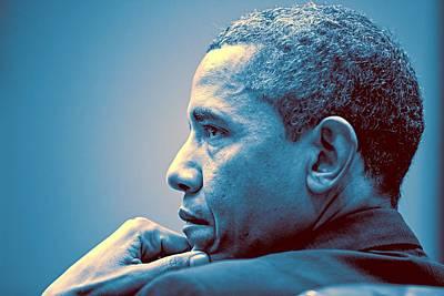 Obama Painting - Barack Obama At White House 1 by Celestial Images