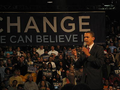 Painting - Barack Obama Campaigning by Artistic Panda