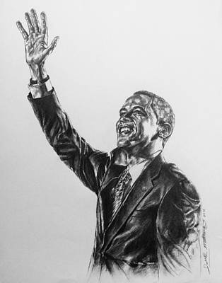 Painting - Barack Obama by Darryl Matthews