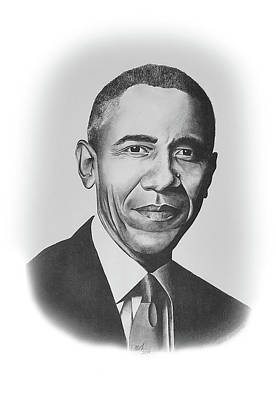 Drawing - Barack Obama by Devin Millington