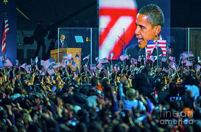 Barack Obama Grant Park, Chicago 11.4.08 Art Print