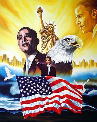 Obama Painting - Barack Obama by Hector Monroy