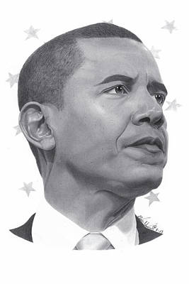 Barack Obama Print by Oliver Johnson