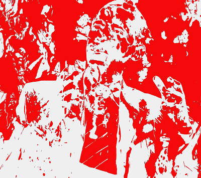 Barack And Michelle Obama Mixed Media - Barack Obama Paint Splatter 4d by Brian Reaves
