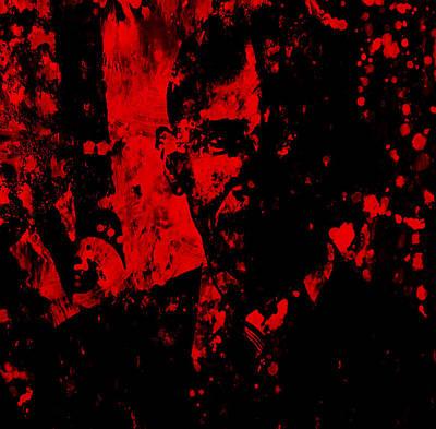 Barack Obama Paint Splatter Art Print by Brian Reaves