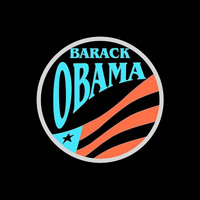Barack Obama - Tshirt Design Art Print by Art America Gallery Peter Potter