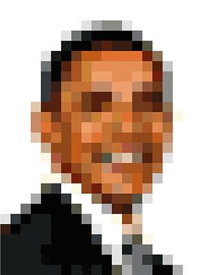 Barack Obama Pixelface Art Print
