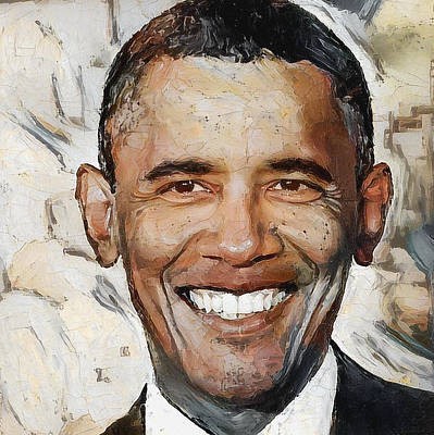 Barack Obama Portrait 1 Art Print