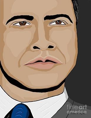 Obama Mixed Media - Barack Obama by Richard Heyman