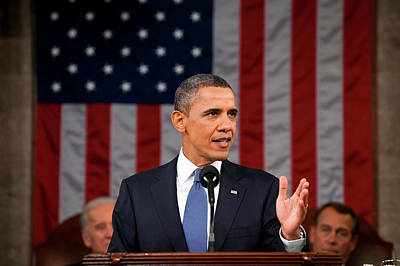 Barack Obama - State Of The Union Address Art Print