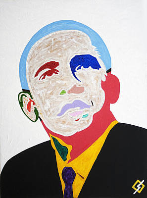 Politicians Painting - Barack Obama by Stormm Bradshaw