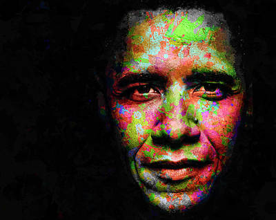 Mixed Media - Barack Obama by Svelby Art