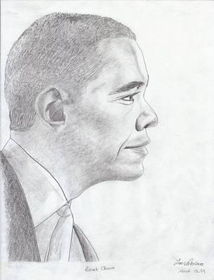 Barak Obama Art Print