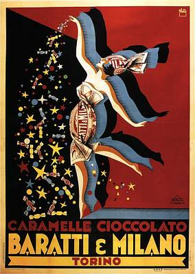 Mixed Media - Baratti And Milano - Torino, Italy - Vintage Chocolate Advertising Poster by Studio Grafiikka