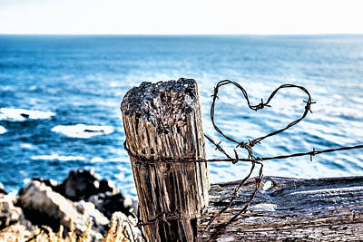 Barb Wire Heart Art Print by Joseph S Giacalone