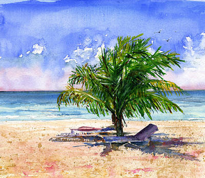 Painting - Barbados Beach by John D Benson