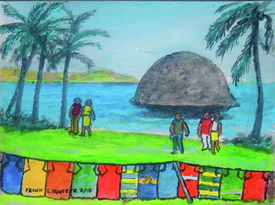 Painting - Barbados Beach Tee Shirts by Frank Hunter