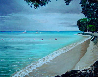 Boat Painting - Barbados by Elizabeth Robinette Tyndall
