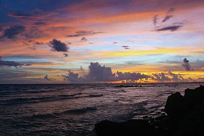 Photograph - Barbados Sunset 1 by Colleen Keller Breuning