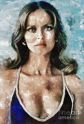 Bach Painting - Barbara Bach, Actress by Mary Bassett