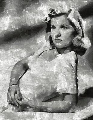 Owls - Barbara Bel Geddes Hollywood Actress by Esoterica Art Agency