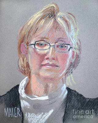 Pastel Portrait Drawing - Barbara Benedict by Donald Maier
