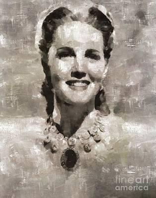 Barbara Britton, Actress Art Print by Mary Bassett