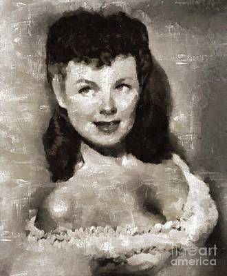 Barbara Hale, Actress Art Print by Mary Bassett
