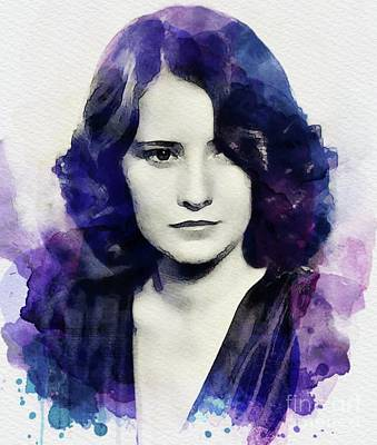 Musicians Royalty-Free and Rights-Managed Images - Barbara Stanwyck, Vintage Actress by John Springfield