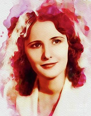 Painting - Barbara Stanwyck, Vintage Movie Star by John Springfield