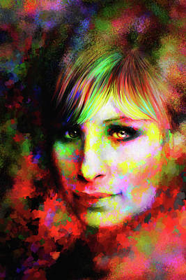 Digital Art - Barbara Streisand by Matt Lindley