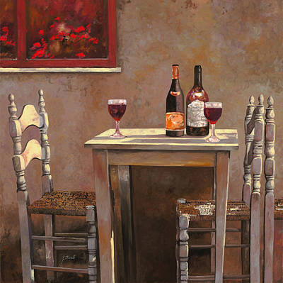 Wine Glass Painting - Barbaresco by Guido Borelli