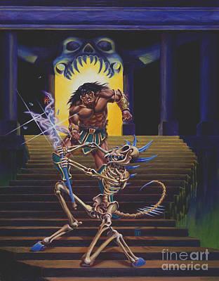 Barbarian And Skeleton Wizard Original