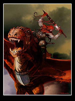 Barbarian Knight Art Print