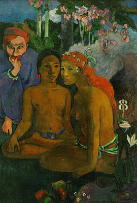 Painting - Barbarian Tales  by Paul Gauguin