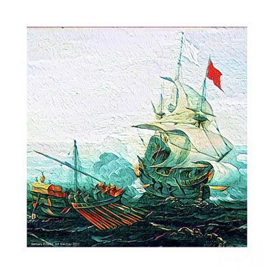 Digital Art - Barbary Pirates by Art MacKay