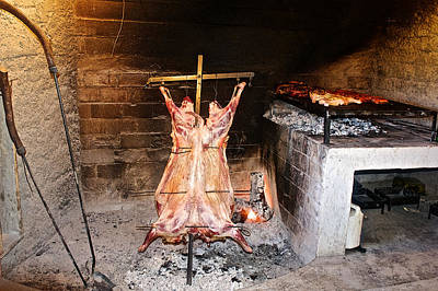 Fragua Photograph - Barbecue At La Fragua Ranch In Patagonia Near Bariloche-argentina   by Ruth Hager