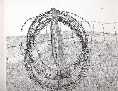 Barbed Coil Art Print by Pat Price