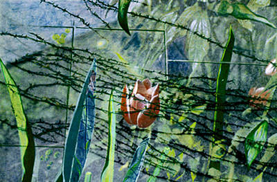 Barbed Vine Art Print by Nancy  Ethiel