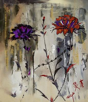 Painting - Barbed Wire And Roses by Ralph Taylor