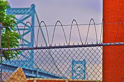 Barbed Wire Fences Digital Art - Barbed Wire Bridge by Bill Cannon