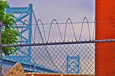 Barbed Wire Bridge Art Print by Bill Cannon