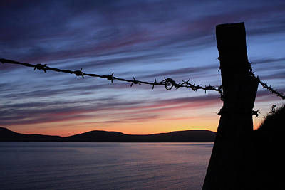 Photograph - Barbed Wire Sunset by Aidan Moran
