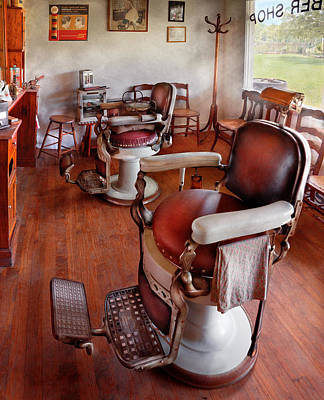 Photograph - Barber - Please Have A Seat by Mike Savad