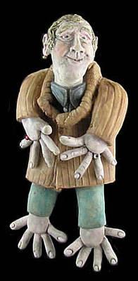 Ceramic Art - Barber Bob by Judy  Hensley