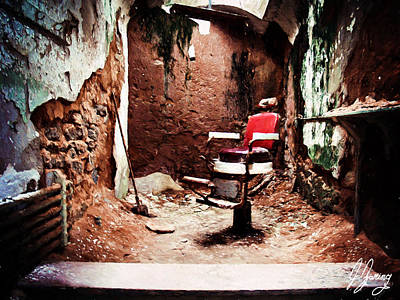 Depression Mixed Media - Barber Chair Of Eastern State Penn by Joshua Zaring